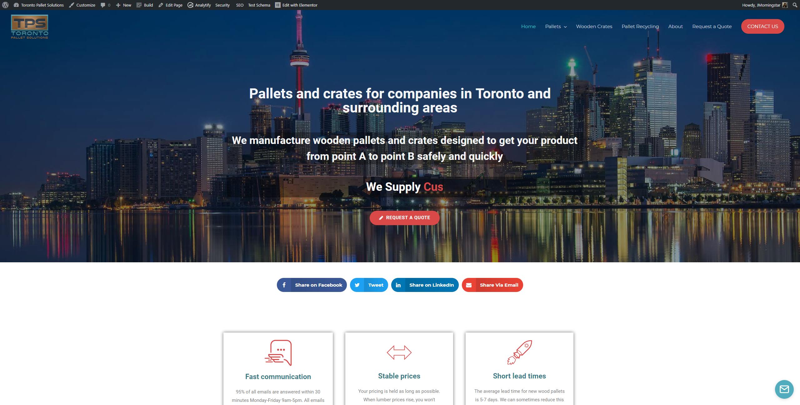 Toronto Pallets Toronto Pallet Solutions